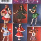 Simplicity 4015 Misses' Sexy Short Skirted Costumes & Hats, Six Dress Design Options Sz 10-16 FF