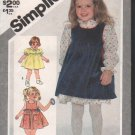 OOP Vintage Simplicity 5734 Toddler's Dress & Pinafore or Sundress Size 3 FF