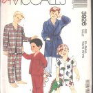 OOP Vintage McCall's 3926  Little Boys'/Childrens' Robe,Tie Belt, & Pajamas SZ X-Small (4-6)FF