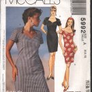 OOP McCall's 5992 Misse's Dresses (Stretch Knit) Sizes 6 & 8 are still available for use; EUC
