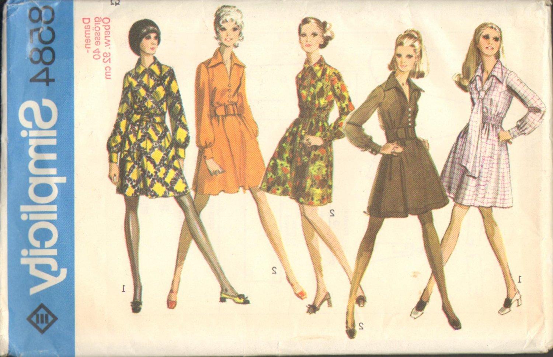 Simplicity 8584 Misses Shirt-Dress w/Tie/Sash Grösse/Size 40 (GERMAN TRANSLATION)