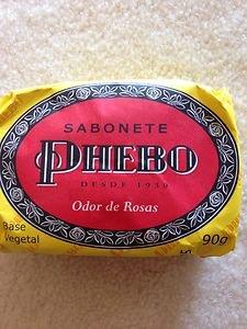 Brazilan Soap PHEBO Odor De Rosas SOAPPHEBO BAR SOAP~from Brazil~new