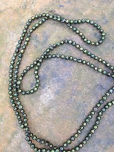 Genuine Freshwater Pearl  Necklace Green~STUNNING~new Never Worn! 7mm