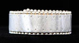 Silver Leather Cuff Bracelet~Croc Embossed Adjustable Cuff~NWT +CUTE!!!