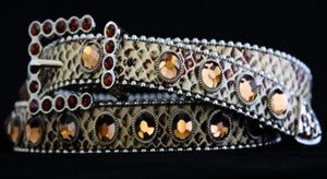 Bling Skinny Belt~Genuine Leather & Austrian Crystal~NWT~all Sizes!! Gorgeous!!