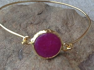 Turkish Jewelry HOT PINK JADE BRACELET~Hand Made In Turkey~ NWT! Very Pretty!!