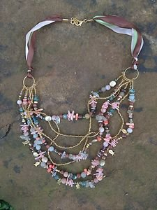 Turkish Jewelry Necklace~Adorned in Genuine Semi Precious Gemstones Gorgeous!NWT