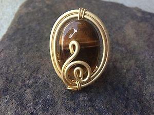 Turkish Jewelry Stone RING~GENUINE Tigers Eye~Hand Made In Turkey~NWT~Beautiful!