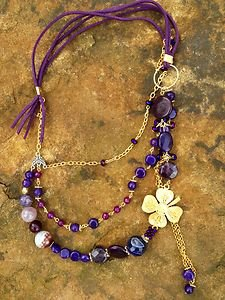 Turkish Jewelry~ Necklace Adorned with 100% Pure Amethyst~Amazing Detail! NWT