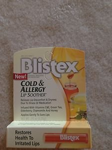 Blistex Cold and Allergy Lip Soother lip balm stick  .15 oz (4.25g) Factory Seal