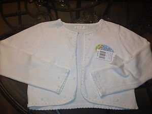 American Princess cropped off white Dressy sweater w/ pearls Sz 14~NWT