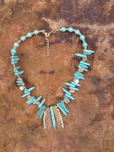 Turkish Necklace~Anatolian Coin Charms Turquoise~Nwt~Very Beautiful!!