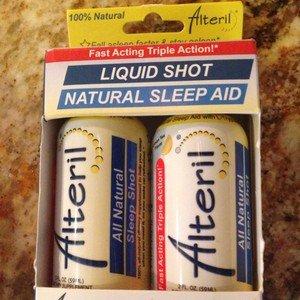 Sleep Aid Alteril Natural Liquid Shot Lemon Tea Flavor 2 - 2.0fl oz bottles~new!