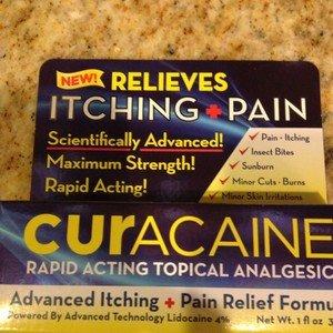 Curacaine Topical Analgesic Lidocaine 4% Itching Pain Relief 1fl oz~nib EXP 2-14