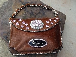 CELL PHONE Case Purse~ Austrian Crystal GENUINE LEATHER~NWT~BEAUTIFUL