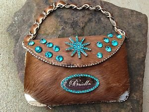 Clutch Cell PURSE GENUINE LEATHER & Austrian Crystal NWT~BEAUTIFUL!!