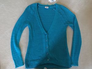 Justice Teal CARDIGAN Sweater ~~Girls Size 16 ADORABLE!!