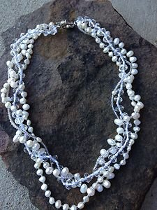 Fresh Water Pearl Necklace White..VERY Beautiful!! NWT