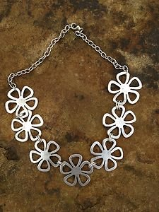 Turkish Jewelry Flower Necklace Zamac Hand  Made In Turkey~NWT Turkey! Beautiful