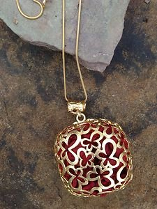 Turkish Jewelry Silk Necklace~dipped in Buttery 24k Gold~ Unique Nwt!'