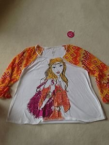 Justice Girls Shirt~flare Sleeve~Gorgeous!! ~Brand New With Tag~SZ 14