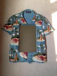 Beach Hawaiian Shirt~mirrior shaped as a shirt-beach Decor Very Cute!!!