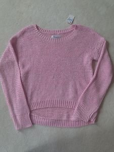 Justice Light Pink Pullover Sweater ~LIGHT WEIGHT~Girls Size 10~VERY CUTE!!!