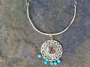 Turkish Jewelry Necklace~with Genuine Turquoise And Tigers Eye from Turkey! NWT