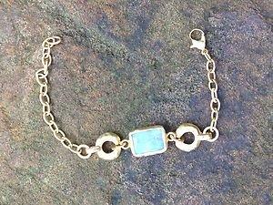 Turkish Jewelry Genuine Aqua Agate~From Turkey~GORGEOUS!! NWT!