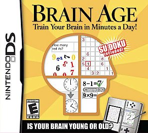 Brain Age: Train Your Brain in Minutes a Day  (Nintendo DS, 2006) GAME AND CASE