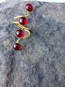 Turkish Jewelry Red Agate RING 24K PLATED~Hand  Made In Turkey~NWT~BEAUTIFUL