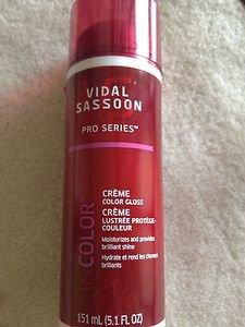 VIDAL SASSOON~ Creme Color Gloss~ 5.1 FL Oz~ Moisturizes and Provides Shine