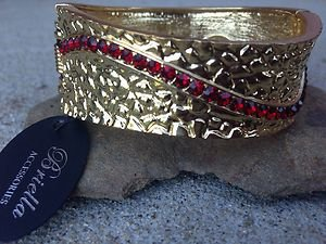 GOLD &  RED BRACELET/CUFF~~VERY Beautiful!! NWT!!