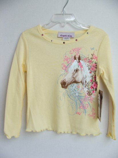Toddler Girls' L/S Boyfriend Tee by Cupid's Cup - 2T