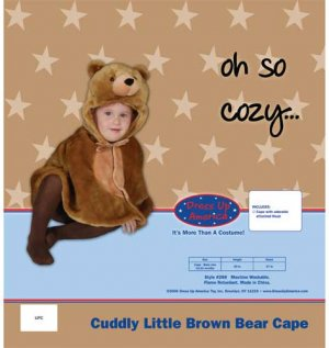 CUDDLY LITTLE BROWN BEAR COSTUME BY DRESS UP AMERICA - INFANT