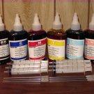 Bulk refill ink for EPSON ink printer, 100ml x 6 bottles(BK, C, M, Y, Light Cyan, Light Magenta)