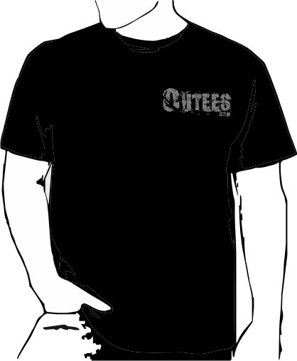 Black Outees S-XL Small Front Logo Large Back Design Inside-Out