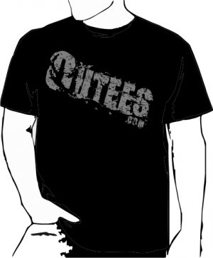 Black Outees S-XL Diagonal Logo Large Front Design Inside-Out