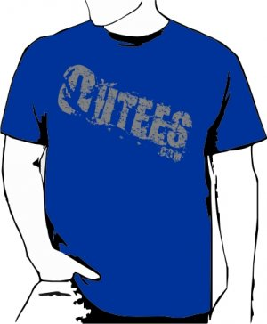 Blue Outees S-XL Diagonal Logo Large Front Design Inside-Out