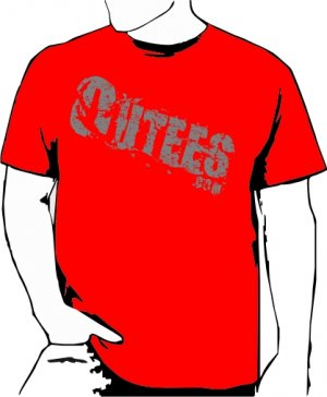 Red Outees S-XL Diagonal Logo Large Front Design Inside-Out