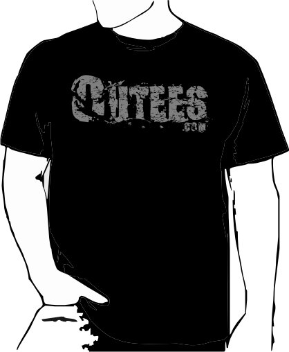 Black Outees 2XL-3XL Large Front Logo Design Inside-Out
