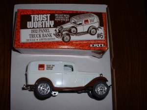 Trustworthy truck 6--1990  ERTL bank--Made in USA--1:25 scale