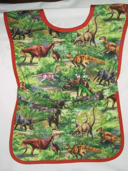Dinosaurs - Handmade School Paint Art Smock Kids Boys Girls Childs
