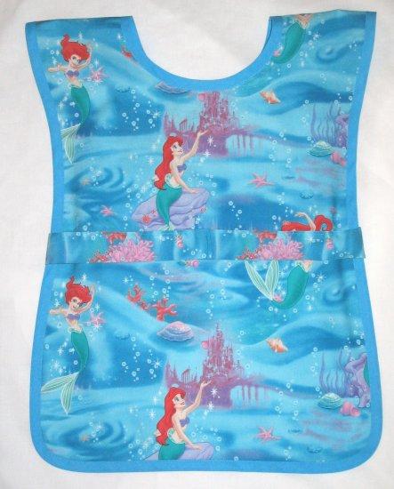 Little Mermaid School Preschool Paint Smock - Girls Disney  Kids Childs Apron