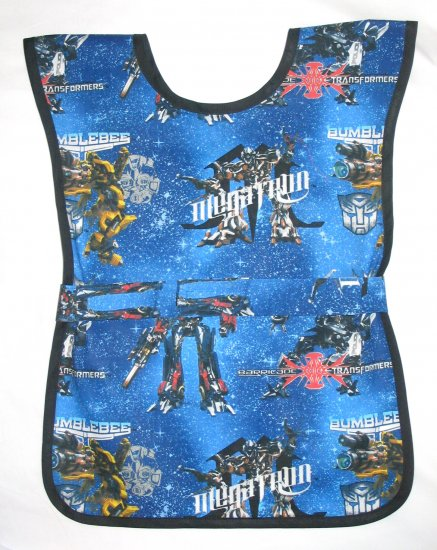 Transformers Paint Smock Apron School Art Preschool Boys Kids Child Boy