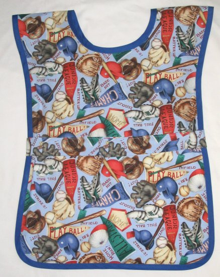 School Paint Smock -  Handmade Boys Sports Baseball Art Craft Preschool Apron