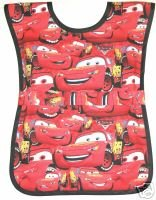 Red Disney Cars Preschool School Childs Paint Smock Apron Childrens Kids