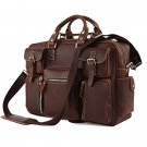 Handmade Vintage Crazy Horse Leather Bag Men's Briefcase/Laptop Bag/Messenger Bag