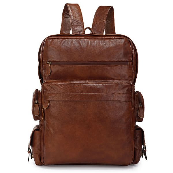 Classic Cowhide Go Hiking Backpack SUPER LARGE Travel Tote Laptop Bag Freeshipping