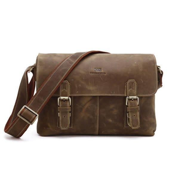 Handmade Crazy Horse Leather Briefcase/Messenger/Shoulder Tote Bag Computer Bag